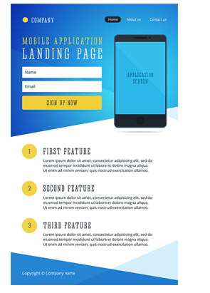 SEO friendly landing page