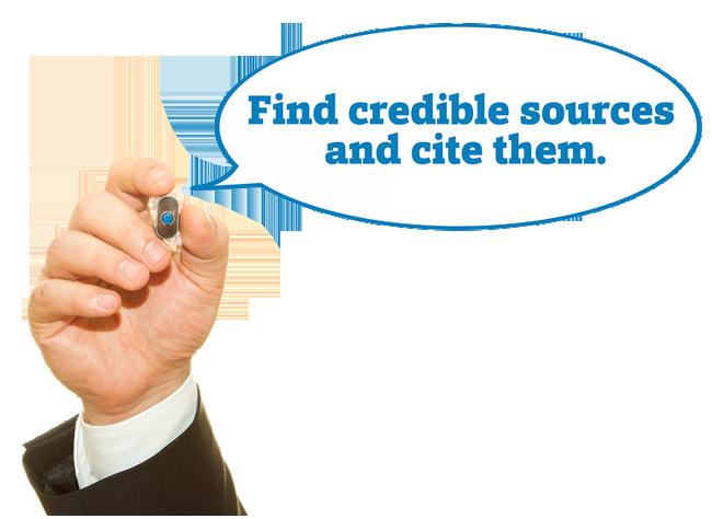 cite sources