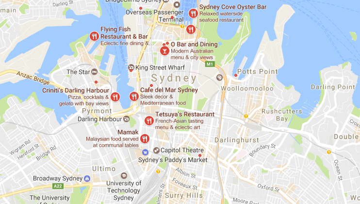 google places map