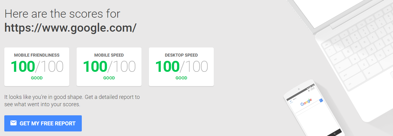 googles site speed