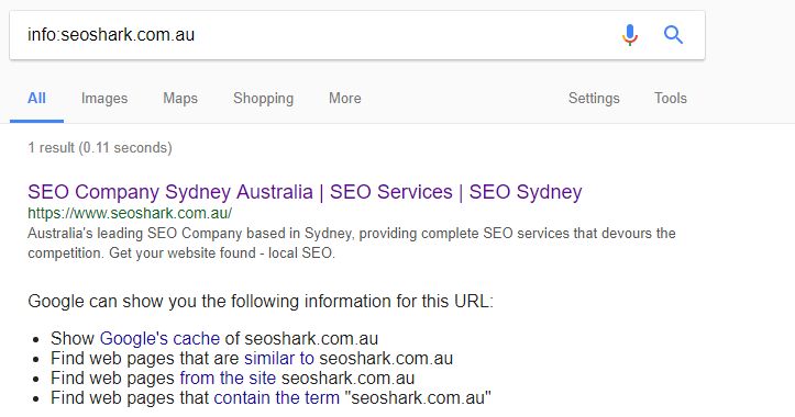 site information about seo shark