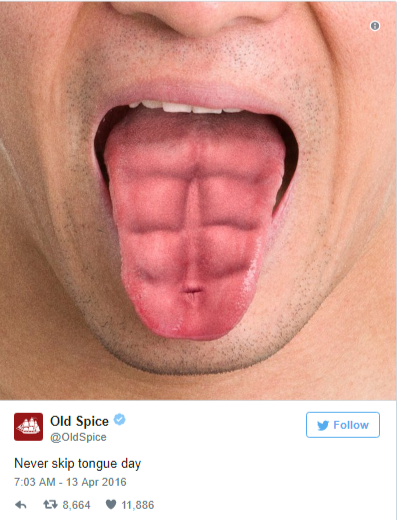old spice is great at creating short and sharp twitter posts