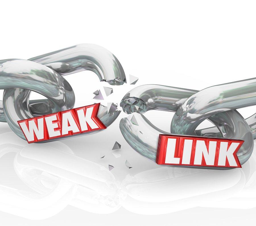 weak or broken link