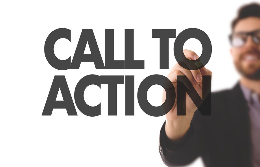 call to action buttons should feature on your homepage