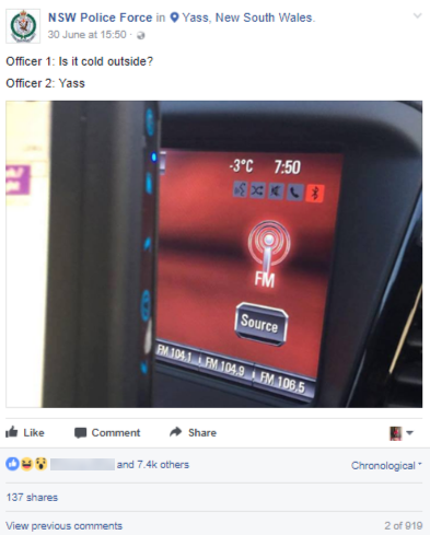 nsw police force funny post