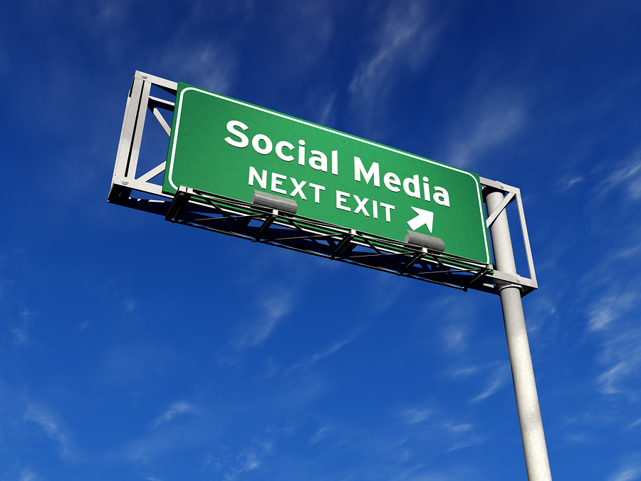 social media freeway sign