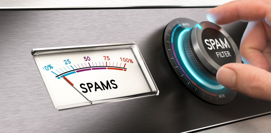 spam filter to report spam