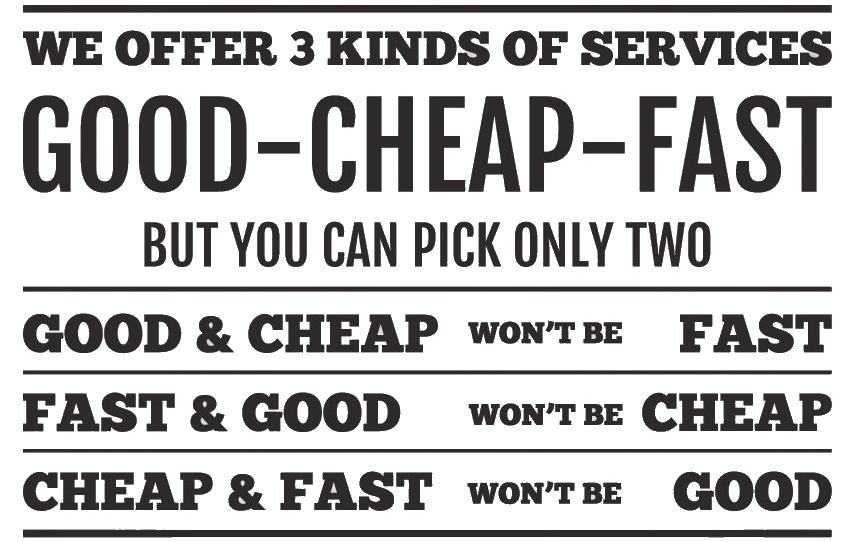 Cheap vs Quality