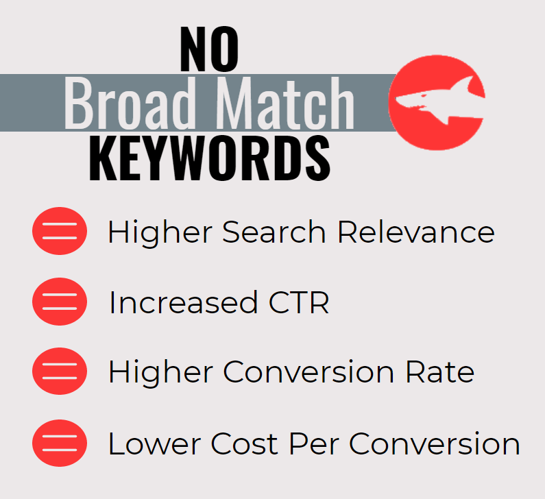 The Benefit of Not Using Broad Match Keywords For PPC Campaigns