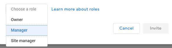 Choose a role